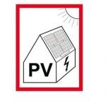 Brandschutz-Aufkleber bei PV-Anlagen