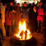 Weihnachtsmarkt-Feuer